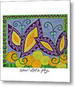 Wow Let's Fly Metal Print