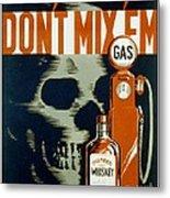 Wpa  Vintage Safety Poster Metal Print
