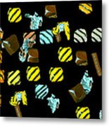 Wrapped Chocolates Metal Print