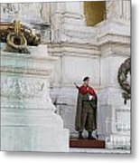 Wreath And Guard At The Tomb Of The Unknown Soldier Metal Print