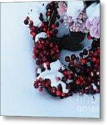 Wreathing Winter Sorrows Metal Print