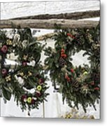Wreaths For Sale Colonial Williamsburg Metal Print