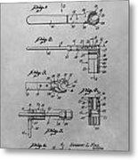 Wrench Patent Drawing Metal Print