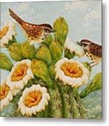 Wrens On Top Of Tucson Metal Print by Summer Celeste