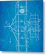 Wright Brothers Flying Machine Patent Art 2 1906 Blueprint Metal Print