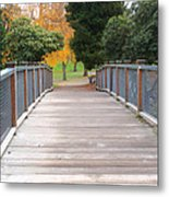 Wrights Park Bridge Metal Print