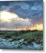 Wrightsville Beach South End Sunset Metal Print