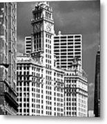 Wrigley Building Chicago Illinois Metal Print