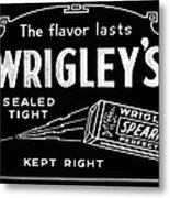 Wrigleys Spearmint Gum Metal Print