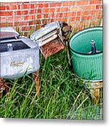 Wringer Washer And Laundry Tub Metal Print