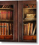 Writer - Books - The Book Cabinet  Metal Print