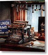 Writer - Typewriter - The Aspiring Writer Metal Print