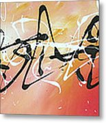 Writing On The Wall By Madart Metal Print