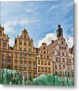 Wroclaw Fountain At The Town Square Metal Print