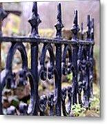 Wrought Iron Fence 1 Metal Print