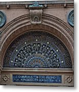 Wrought Iron Grille - The Omaha Building Metal Print