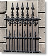 Wrought Iron Window Grille Metal Print