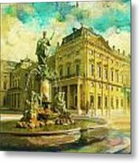Wurzburg Residence With The Court Gardens And Residence Square Metal Print by Catf