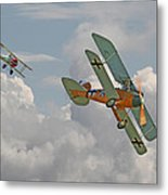 Ww1 - Fighting Colours Metal Print by Pat Speirs