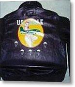 Ww2 Aircraft Jacket Art Metal Print