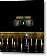 Ww2 And Lincoln Memorials Metal Print