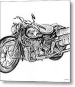 Ww2 Military Motorcycle Metal Print