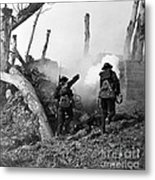 Wwi American Soldiers  Metal Print by Photo Researchers