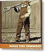 Wwi Farming C1915 Metal Print
