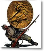 Wwi Gold For French Victory Metal Print