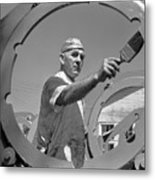 Wwii Home Front Worker Metal Print