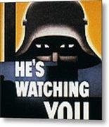 Wwii: Propaganda Poster Metal Print