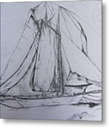 Wwii Schooner Brilliant Modification Metal Print