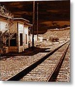 Rails West Metal Print