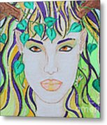 Wyld Spring Spirit Metal Print by Luanna Swaney