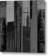 Wyoming Coal Mine Composition Black And White Metal Print