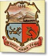 Wyoming Coat Of Arms - 1876 Metal Print