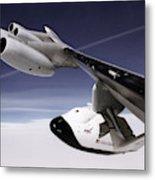 X-38 Spacecraft On B-52 Wing Metal Print