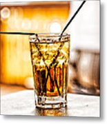 X Marks The Drink Metal Print