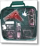 X-ray Of A Briefcase With A Gun Metal Print