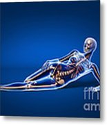 X-ray View Of A Woman Laying Metal Print