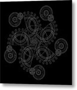 X To The Sixth Power Inverse Metal Print