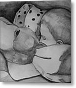 Xander Sleeping Metal Print