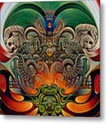 Xiuhcoatl The Fire Serpent Metal Print by Ricardo Chavez-Mendez