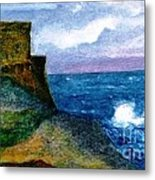 Xlendi Tower - Gozo Metal Print