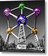 Xmas Atomium  Metal Print