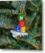 Xmas Noel Ornament Photo Art 01 Metal Print
