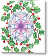 X'mas Wreath Metal Print