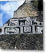 Xunantunich Belize Mayan Temple Close Up Of Frieze Metal Print