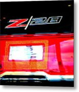 Xxl Chevrolet 2014 Z28 Tail Light Metal Print