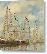 Yacht Basin At Trouville Deauville Metal Print